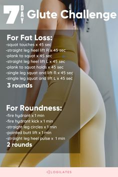 A butt lift workout that you'll love, try the 7 day workout challenge and do this quick glute workout at home! tap through to Blogilates.com to get this round butt lift workout! 7 Day Workout, Body Workout At Home, At Home Workout Plan, Hip Workout, Strength Workout, Workout Videos, At Home Workouts, Lower Body Stretches, Glute Challenge