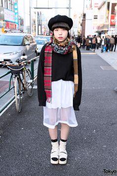 Sheer Skirt & Sweater in Harajuku