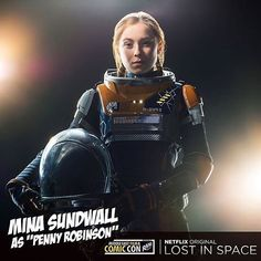 The snark. THE SNARK I say. I love her. I'm in love. Such dialogue. Much wow. regram @minasundwall MEFCC // Ill see you Friday for a screening panel and meet&greet!  #mefcc  #lostinspace #netflix #dialogue #writing