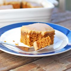 Pumpkin Bars with Old-Fashioned Caramel Frosting...apparently this icing is TDF (to die for ;-)