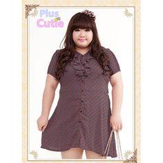 Plus Size Elegant Lady Flouncing Printing Chiffon Dress Free Shipping SP140772