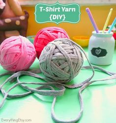Make your own T-shirt yarn without spending a dime! |Gunadesign Handmade Jewelry and Fashion Barn