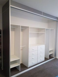 Comfortable and Suitable Wardrobe Design for Big & Small Bedroom – Wardrobe Storage Built In Wardrobe Ideas Sliding Doors, Bedroom Built In Wardrobe, Bedroom Built Ins, Bedroom Closet Doors, Bedroom Closet Storage, Wardrobe Room, Cupboard Wardrobe, Bedroom Closet Design, Wardrobe Storage