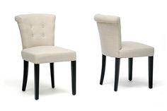 Philippa Beige Linen Dining Chair (Set of 2) | Wholesale Interiors