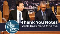Jimmy and President Obama write out Thank You Notes to Congress, Obama's birth certificate and Hillary Clinton. Subscribe NOW to The Tonight Show Starring Ji...