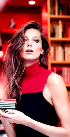 Daria Werbowy for Colours and Joie de Vivre, Fall 2016 Makeup Collection by Sonia Rykiel and Lancôme   Ad campaign