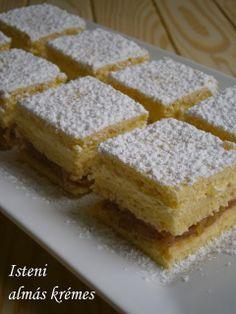 Hankka: Isteni almás krémes Hungarian Cuisine, Hungarian Recipes, My Recipes, Cooking Recipes, Winter Food, Main Dishes, Sweet Tooth, Food And Drink, Yummy Food