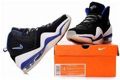 www.asneakers4u.com Nike Air Penny 5 Penny Hardaway Shoes Black/Blue/White