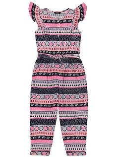 Elephant Print Jumpsuit, read reviews and buy online at George at ASDA. Shop from our latest range in Kids. They'll feel pretty in pink with this beautiful j...