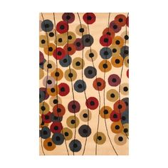 Indo Hand-Tufted Contemporary Ivory/Black Wool Rug (5' x 8') - Overstock Shopping - Great Deals on 5x8 - 6x9 Rugs