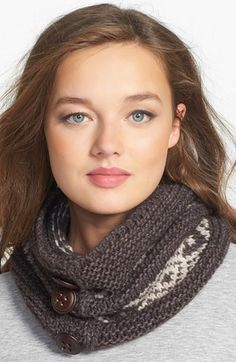 Tarnish 'Peruvian' Knit Neck Warmer available at #Nordstrom. This would look with the hat I just bought