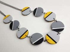 Polymer clay necklace by Elinor McRae (TheColourLab).