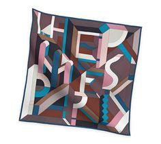 2014 F/W | Perspective Cavalière | Silk twill scarf, hand-rolled (90 cm x 90 cm) | Ref. H002832S 09 | CA$420.00