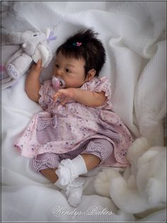 Adorable reborn baby girl