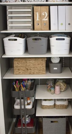 IKEA Raskog Cart for closet storage Small Space Office, Home Office Space, Home Office Design, Home Office Decor, Home Decor, Office Designs, Apartment Office, Closet Ideas For Small Spaces, Office Table