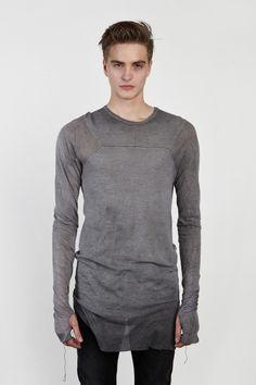 NICOLAS ANDREAS TARALIS Raw Edge Long Sleeve T-Shirt / Patron of the New.