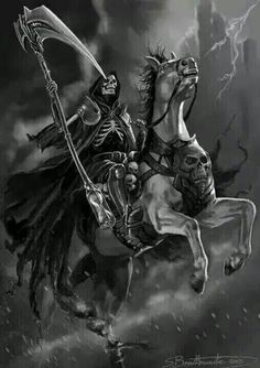 "The Fourth and final Horseman is named Death, known as ""the Pale Rider"""