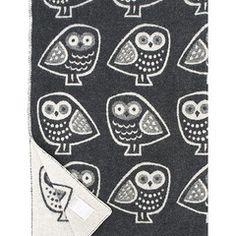Pöllö blanket black-white