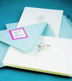 Children's creative artwork adds a personalized touch to stationary! More ideas for Mother's Day: http://www.bhg.com/holidays/mothers-day/gifts/mothers-day-gift-ideas/?socsrc=bhgpin040912mothersdaygifts