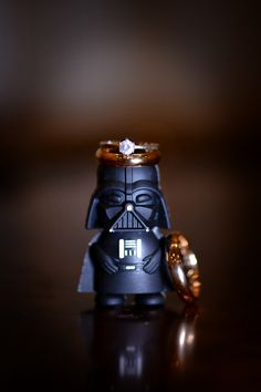 What's more adorable than engagement rings and a mini Darth Vader on Star Wars Day?