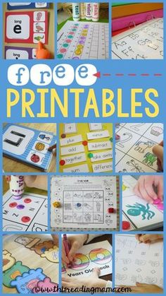 FREE Printables and Learning Activities from This Reading Mama- free printables for kindergarten and preschool education Kindergarten Learning, Preschool Learning Activities, Preschool Printables, Alphabet Activities, Fun Learning, Preschool Activities, Educational Activities, Preschool Learning Games, Pre Reading Activities