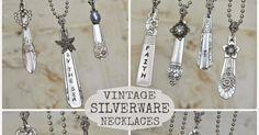 Repurposed silverware necklaces.