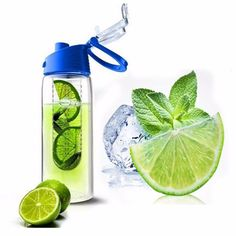 Flesh Fruit Water Bottle Sports Health Lemon Juice Make Bottle Office Outdoor Cycling Camping Flip Lid Leak-proof Fruit Water Bottle, Fruit Infused Water, Infused Water Bottle, Infusion Bottle, Fruit Holder, Bpa Free Water Bottles, Blue Fruits, Lemon Detox, Fruit Cups