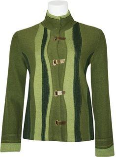 Icelandic Design Valencia Boiled Wool Jacket - Green