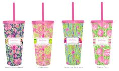water cups from Lilly Pulitzer...cute!