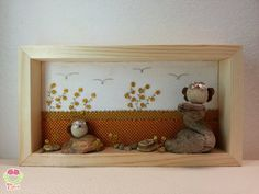 Owl wall art - kids room decoration with two cute owls ...in my shop on Etsy!!