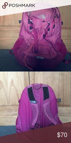North Face backpack Pink with 2 compartment. Used for school North Face Bags Backpacks