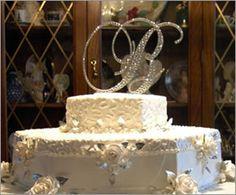 Swarovski Crystal Monogram Cake Top Initials