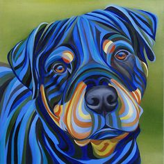 Colorful Animal Paintings, Colorful Animals, Dog Pop Art, Dog Art, Dog Paintings, Art Techniques, Pet Portraits, Great Artists, Dog Love