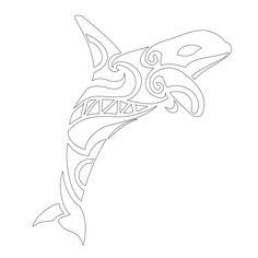 Whale tattoo stencil, maybe i'll design my own...