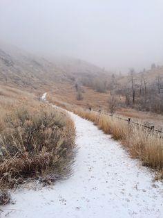 "photoatlas: "" Snow hike at Hewlett Gulch """