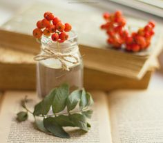 Changing Leaves, Rowan, Tablescapes, Fall Wedding, Strawberry, Glow, Poetry, Cottage, Place Card Holders