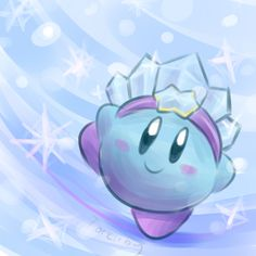 Ice by Torkirby.deviantart.com on @deviantART. Aw. I really like the art style on this one!! Plus, it's cute!!