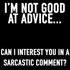 No good at advice