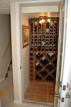 closet conversion wine cellar