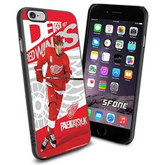 """NHL Detroit Red Wings iPhone 6 4.7"""" Case Cover Protector for iPhone 6 TPU Rubber Case SHUMMA http://www.amazon.com/dp/B00WTYI7DW/ref=cm_sw_r_pi_dp_Aqnqvb04QJ7YW"""