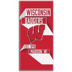Ncaa Head Strong 30 inch x 60 inch Beach Towel, Wisconsin Badgers, Multicolor
