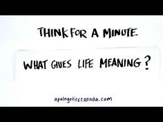 What Gives Life Meaning? What Gives, Meaning Of Life, Meant To Be, Youtube, Youtubers, Youtube Movies