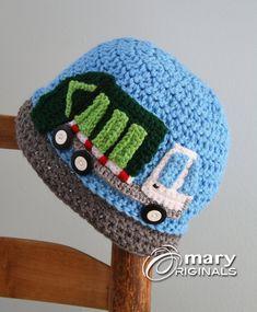 Great Fun Garbage Truck Hat Trash Truck Hat by MaryOriginals