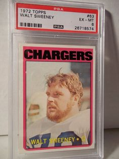 1972 Topps Walt Sweeney PSA EX-MT 6 Football Card #63 NFL Collectible #SanDiegoChargers