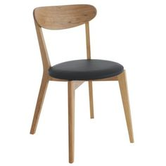 Habitat Sophie Oak Dining Chair with Black Seat Pad