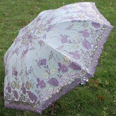 Personalized Lavender Lace Sun Parasole Parasols Umbrellas Wedding SKU-71104020