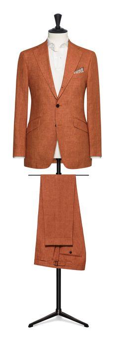 orange made to measure suit Made To Measure Suits, Men's Fashion, Death, Blazer, Fresh, Orange, Business, Jackets, Travel