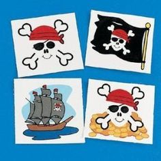 Pirate tattoos are a must.  This website has a lot of pirate party supplies you can purchase.