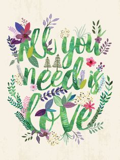 All you need is love Art Print by Mia Charro | Society6