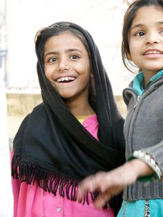 Happy young girls in Pakistan
